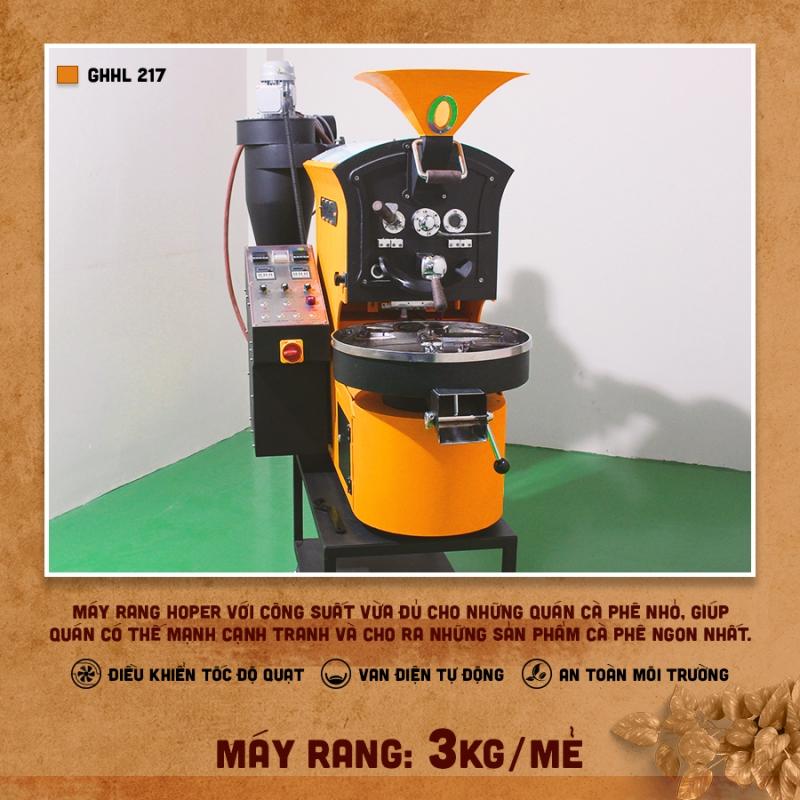 Máy rang cà phê Hoper 3kg