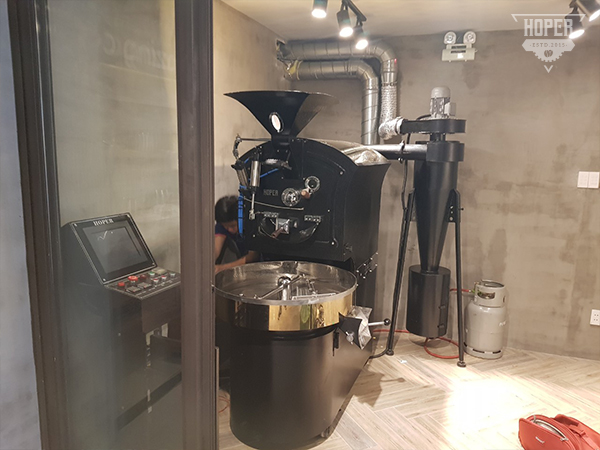 Setup máy rang cà phê cho quán